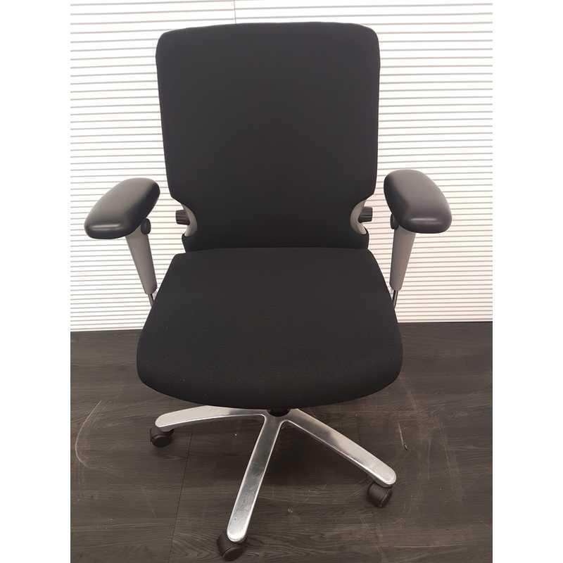 Bureaustoel Met Lendesteun.Bureaustoelen Comforto 7700 Bureaustoel Zwarte Stof Chroom